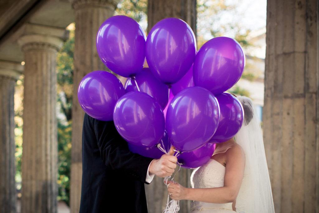 Luftballons für die Hochzeit